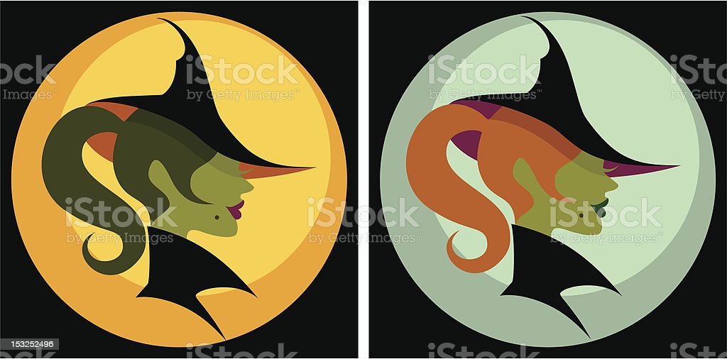Pop Witches royalty-free stock vector art
