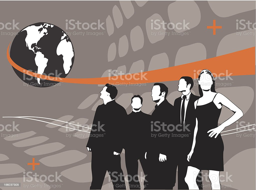 Pop World Business 3 (vector) royalty-free stock vector art