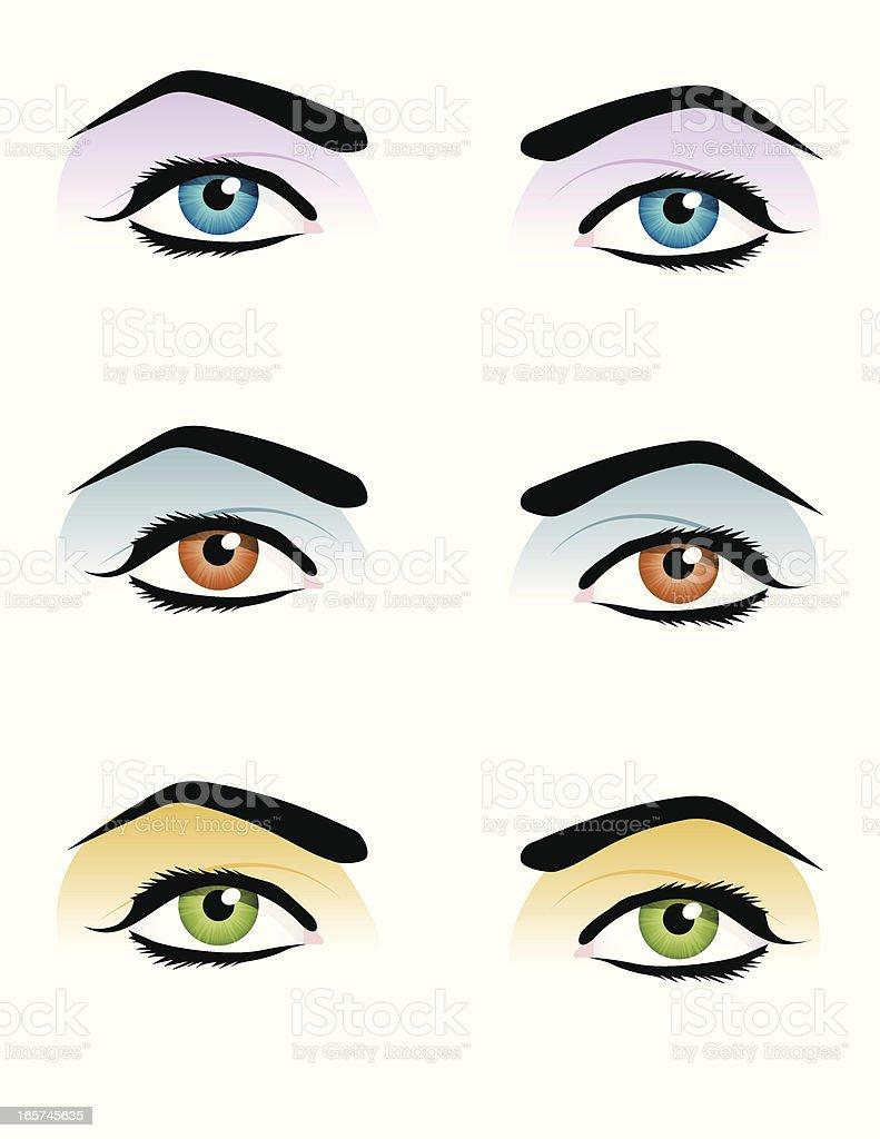 Pop-art eyes vector art illustration