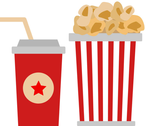 Popcorn Movie Theater Box Bag Clip Art, Vector Images ...