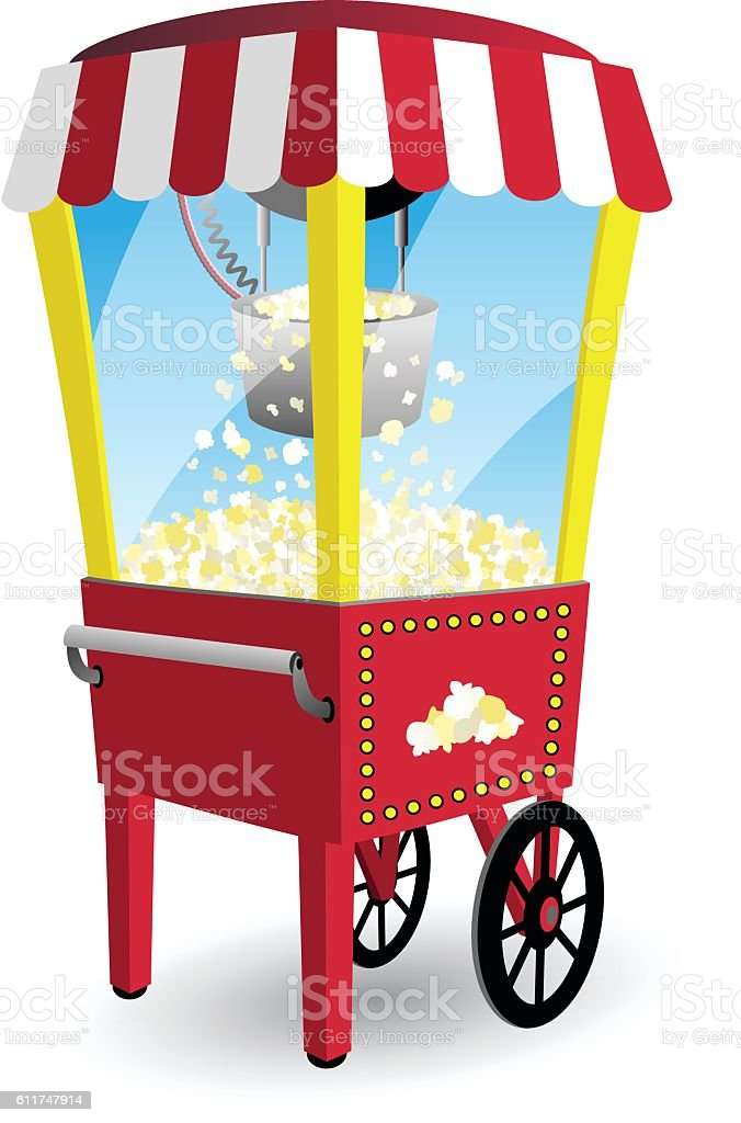 Popcorn Machine vector art illustration