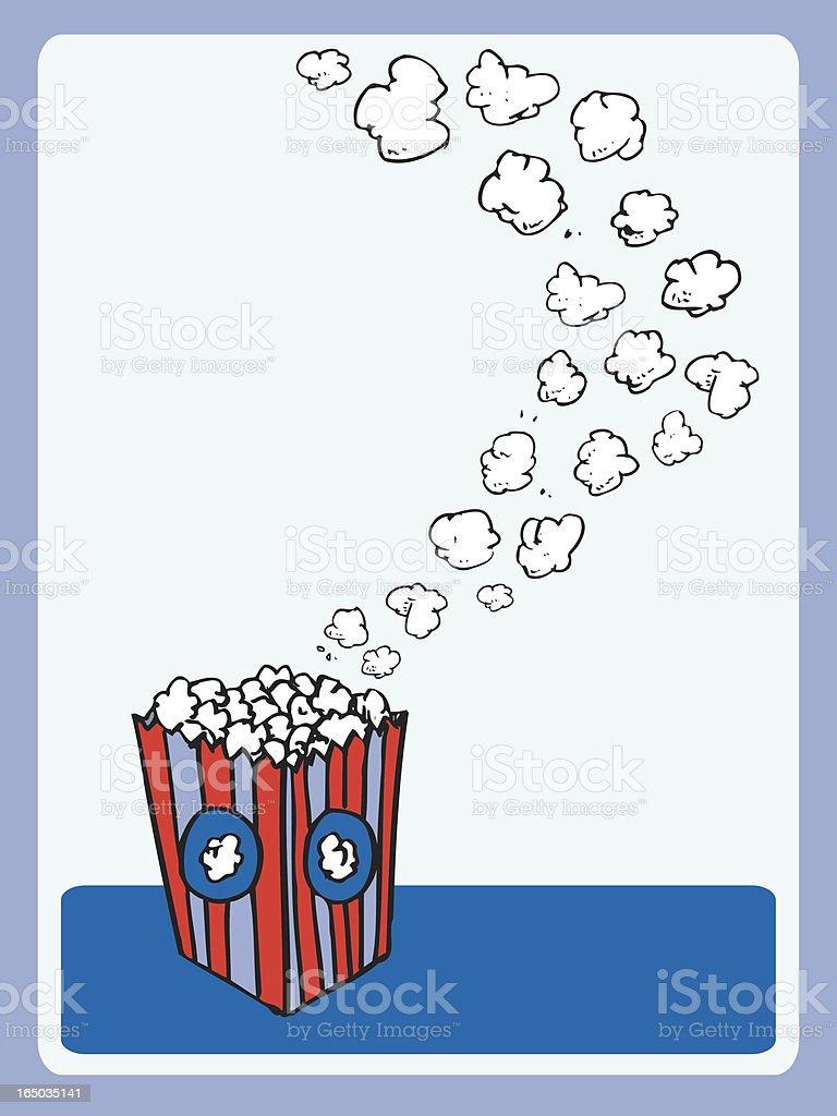 Popcorn Table Card (vector illustration) royalty-free stock vector art