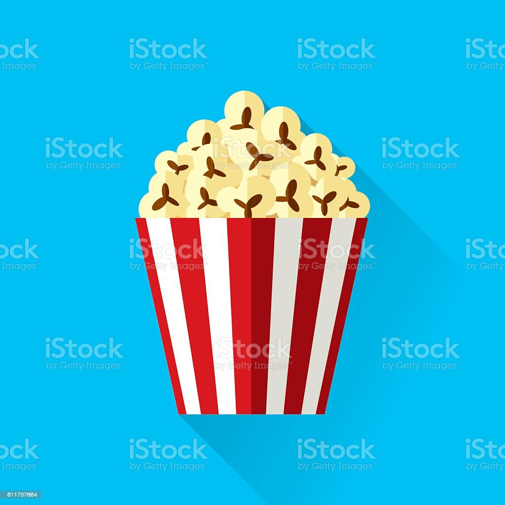 Popcorn vector art illustration