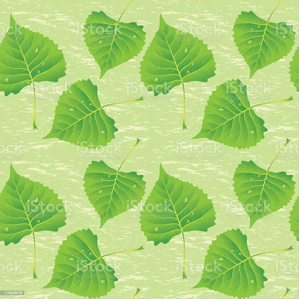 Poplar Leaves Seamless Pattern royalty-free stock vector art