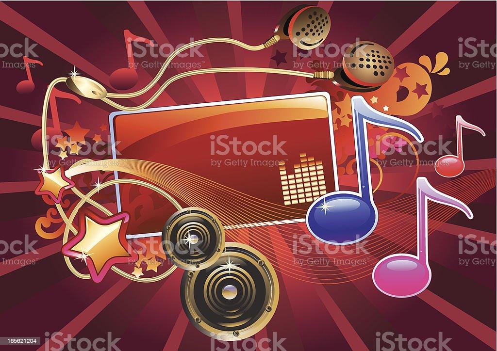 Pop-music tag royalty-free stock vector art