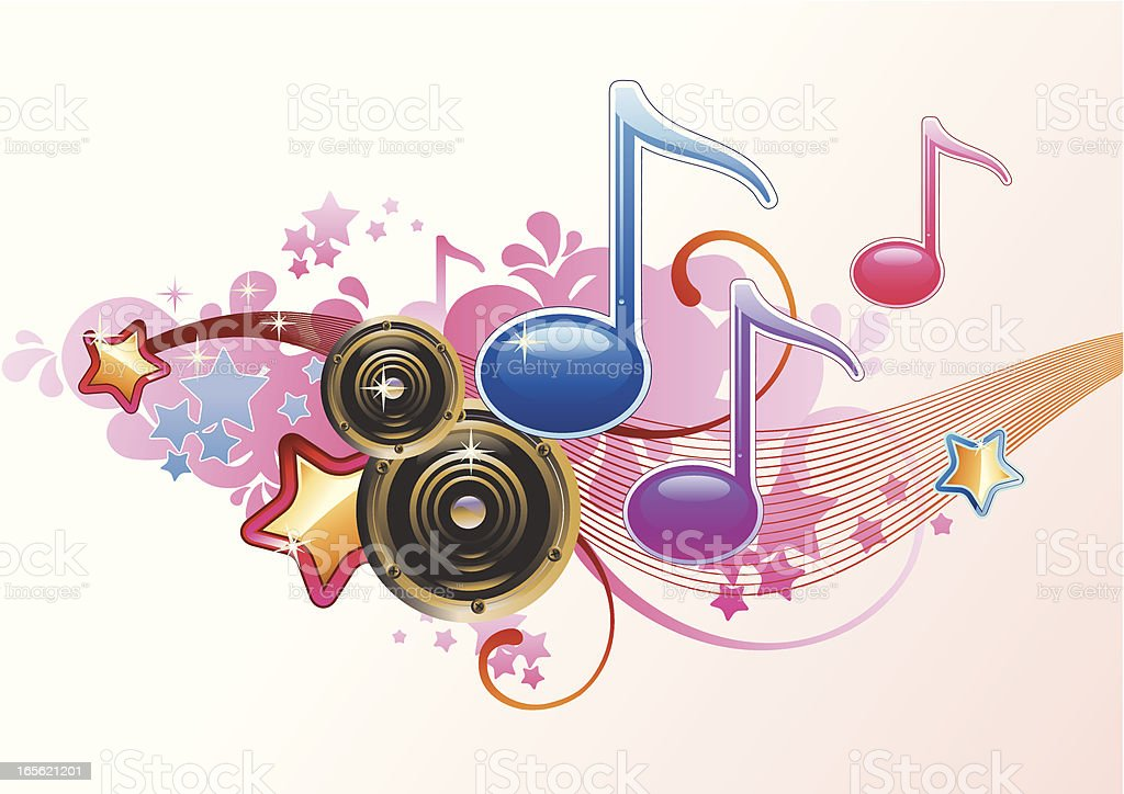 Pop-music royalty-free stock vector art