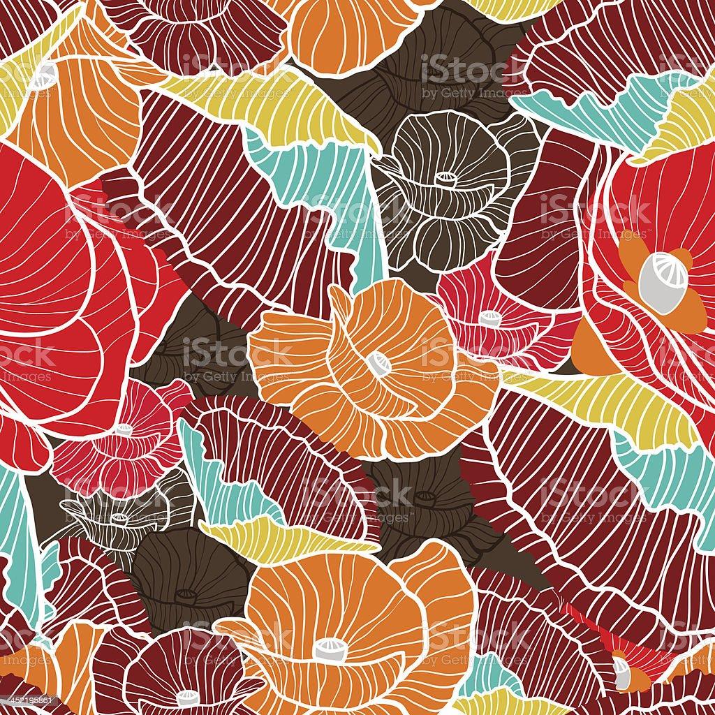 Poppies royalty-free stock vector art