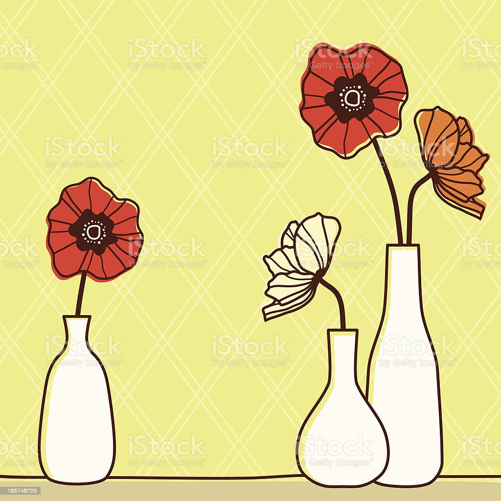 Poppy Bottles vector art illustration