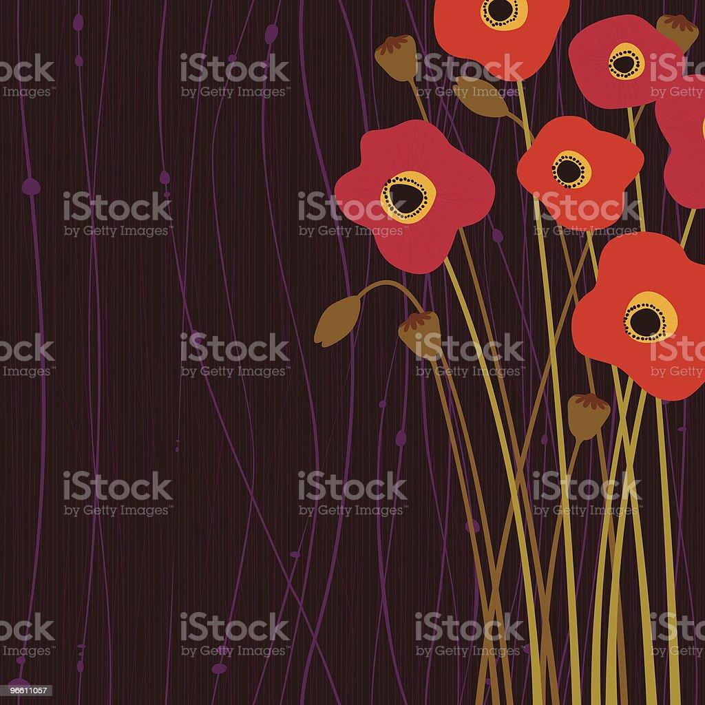 Poppy flowers royalty-free stock vector art