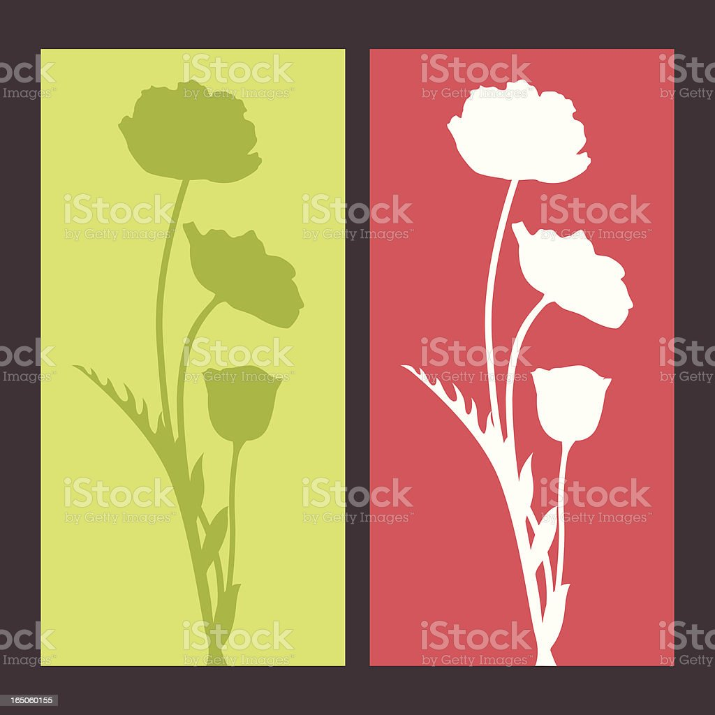 poppy silhouette royalty-free stock vector art