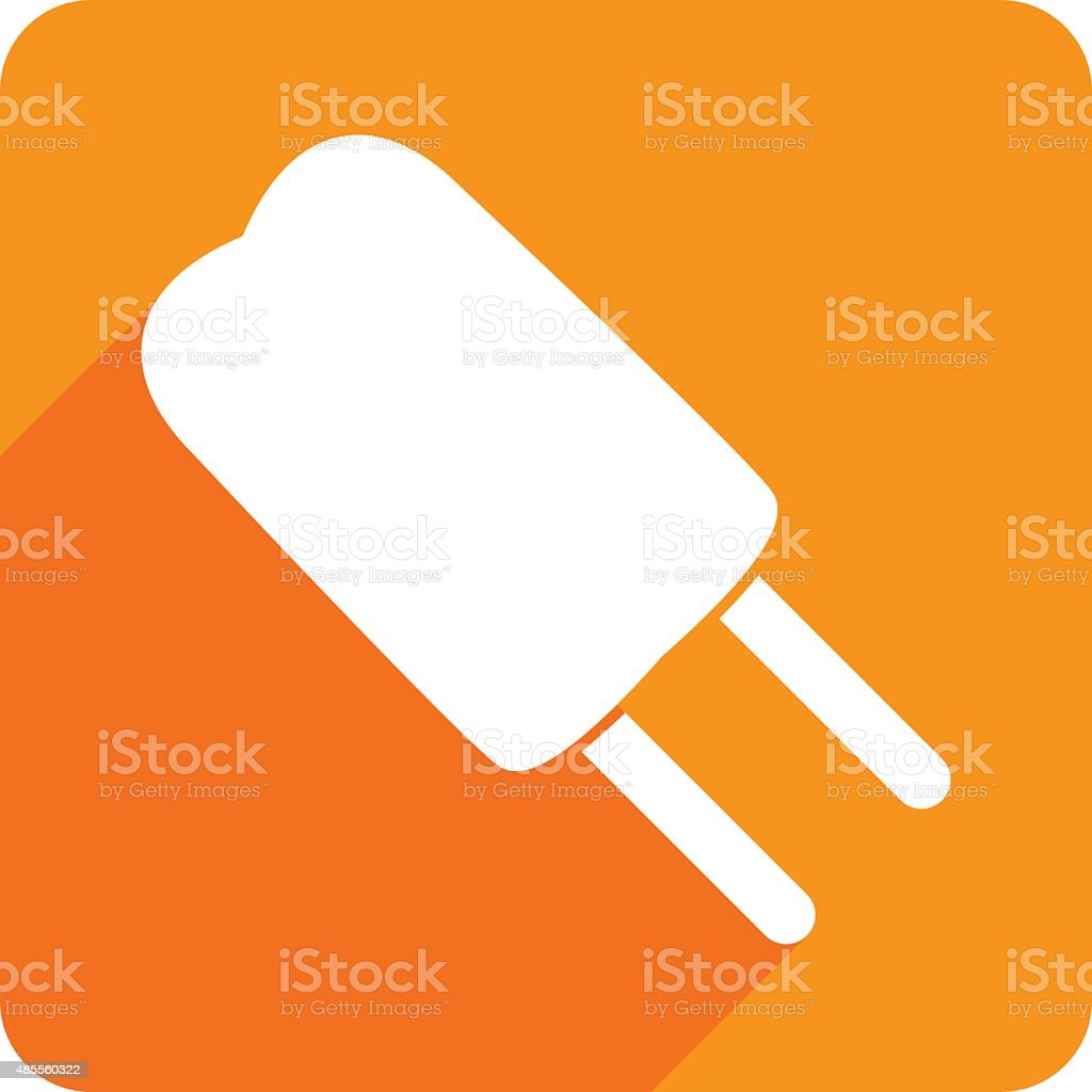 Popsicle Icon Silhouette vector art illustration