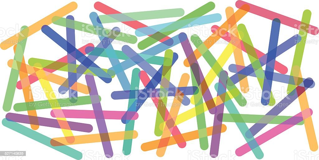 Popsicle sticks background vector art illustration