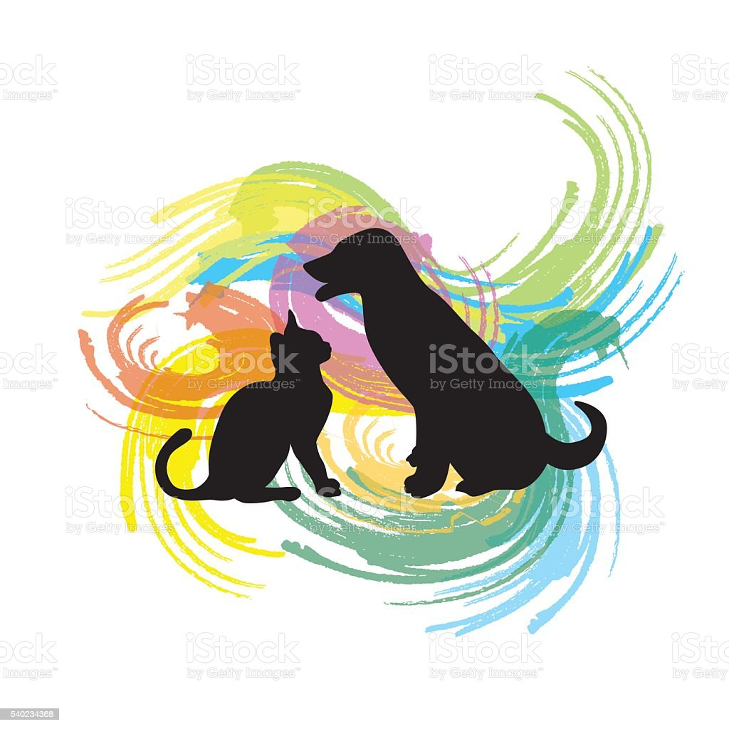Popsicle Swirl Pets vector art illustration