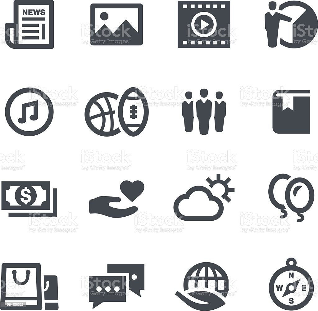Popular Categories Icons vector art illustration