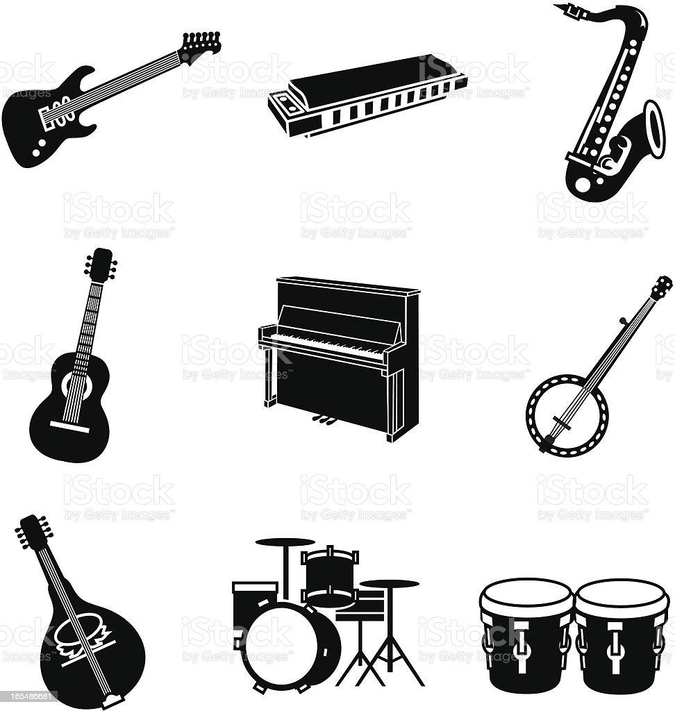 popular music royalty-free stock vector art