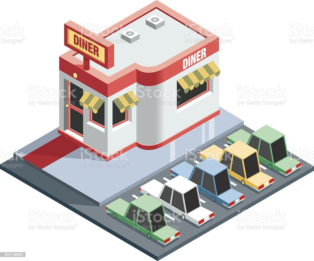 popular restaurant vector art illustration