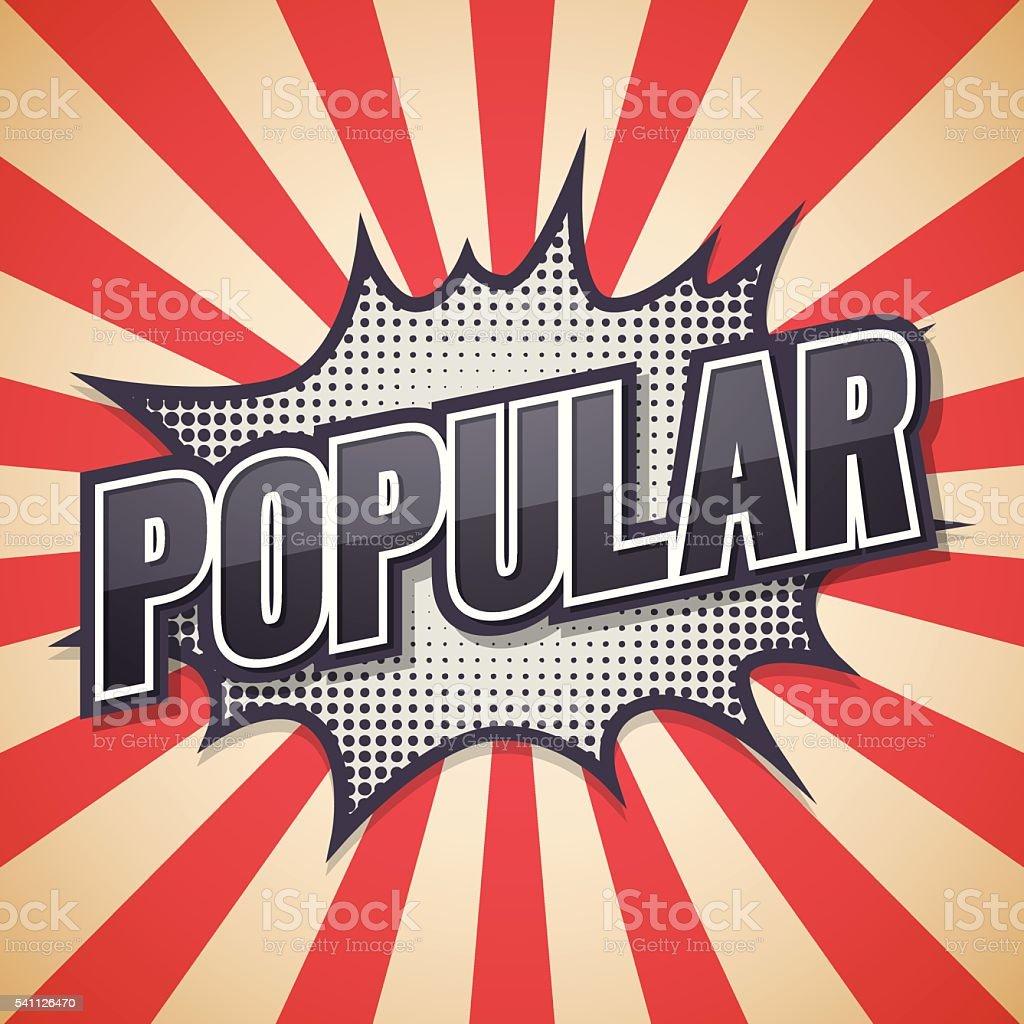 Popular, Retro poster, Vector illustration. vector art illustration