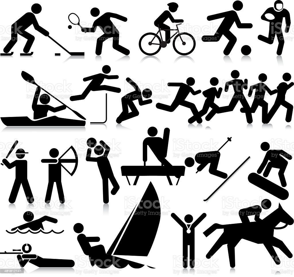 Popular Sporting Activities royalty-free stock vector art