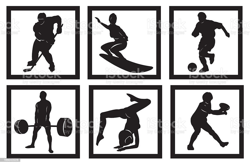 Popular sports royalty-free stock vector art