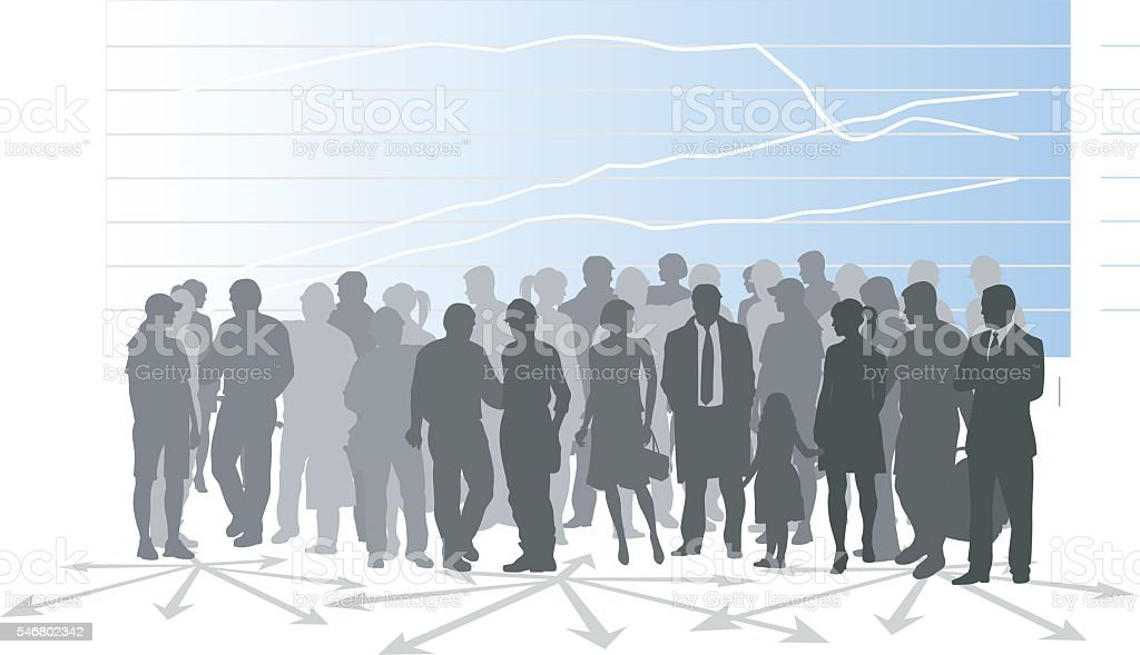 Population Demographic vector art illustration