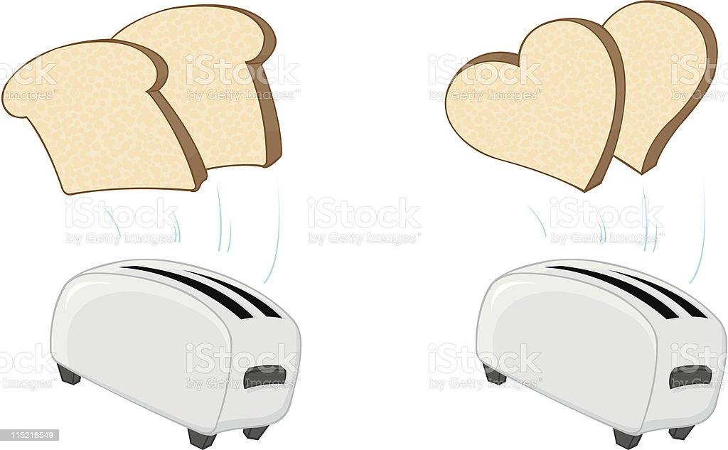 Pop-up toast/ love royalty-free stock vector art