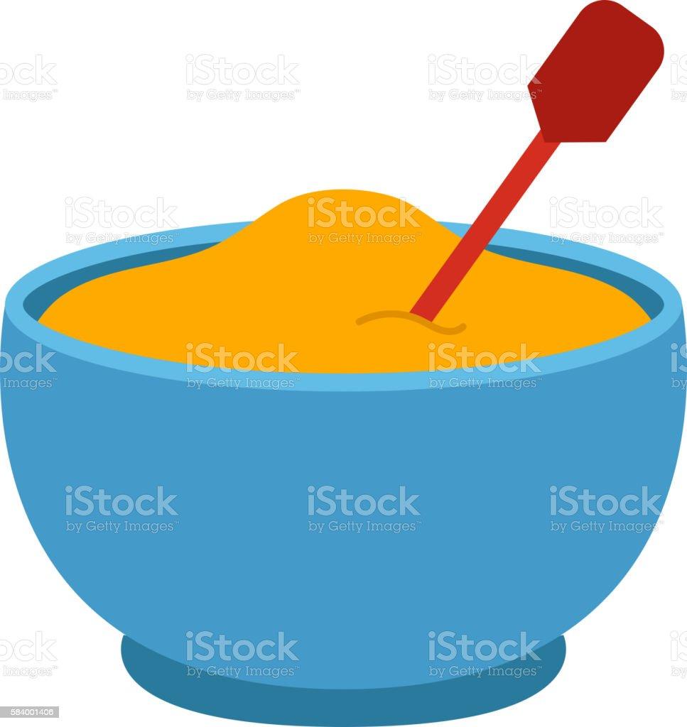 Porridge plate vector illustration. vector art illustration
