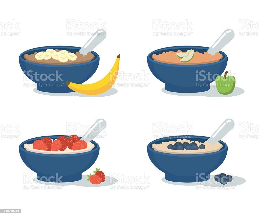 Porridge vector art illustration
