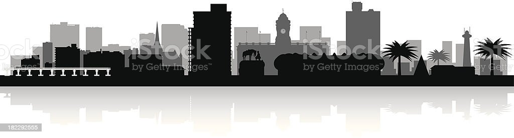 Port Elizabeth South Africa city skyline vector silhouette royalty-free stock vector art