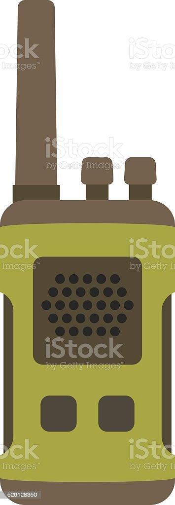 Portable radio set transceiver wave mobile security technology vector vector art illustration