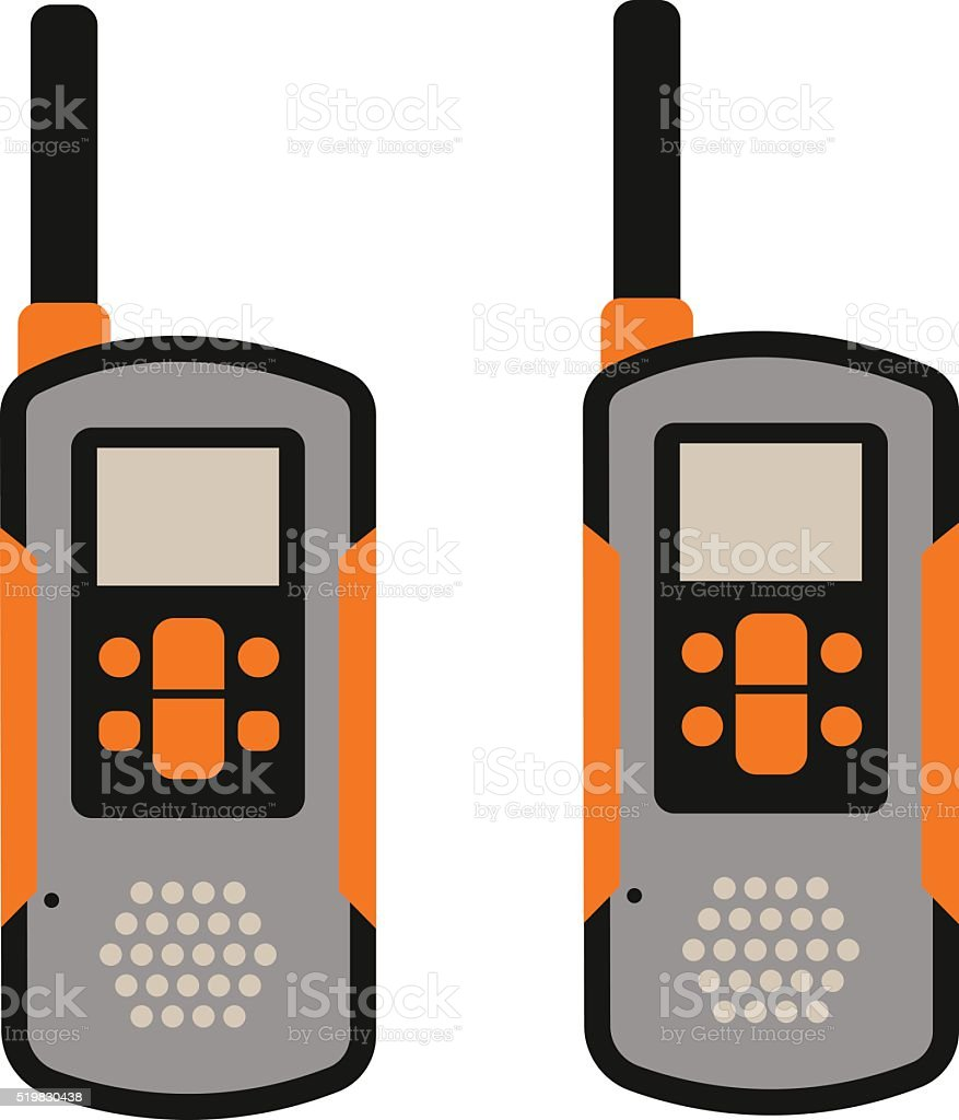 Portable radio transmitter on a white background vector illustration vector art illustration