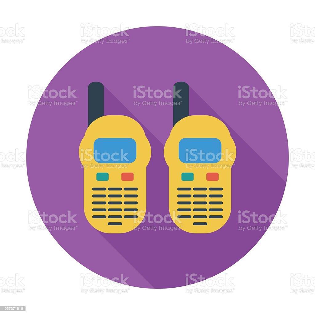 Portable radio vector art illustration