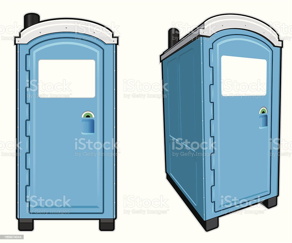 Portable Toilet royalty-free stock vector art