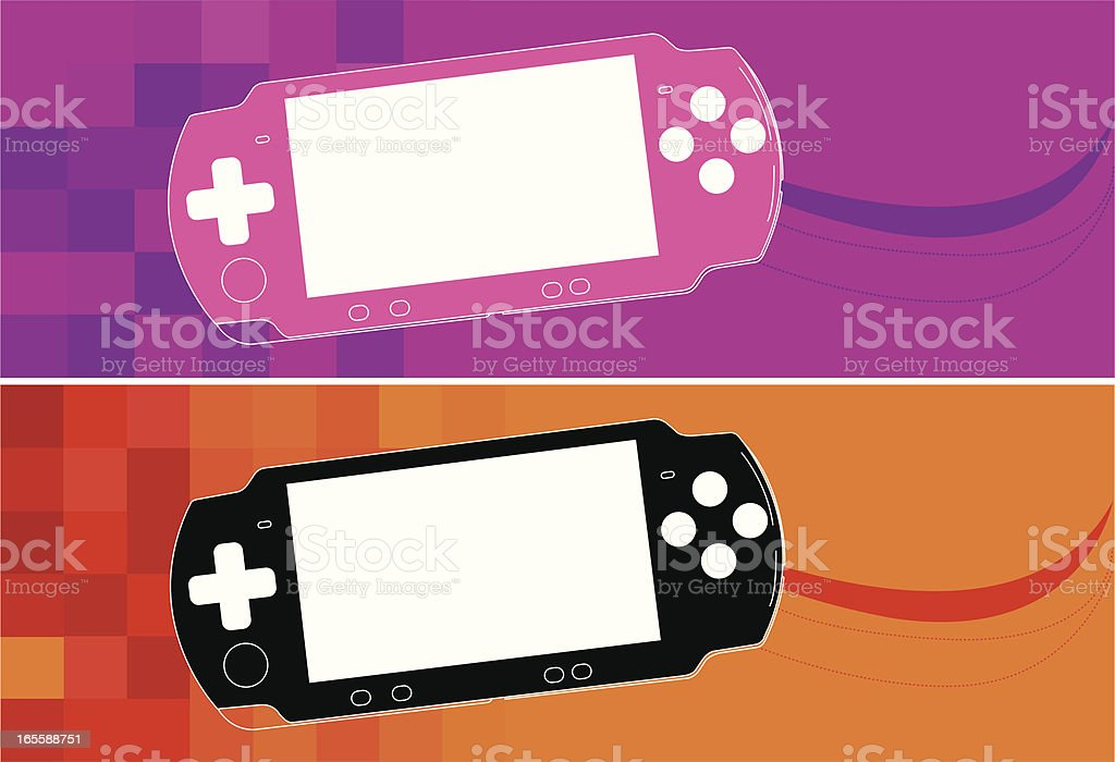 Portable Video Game vector art illustration