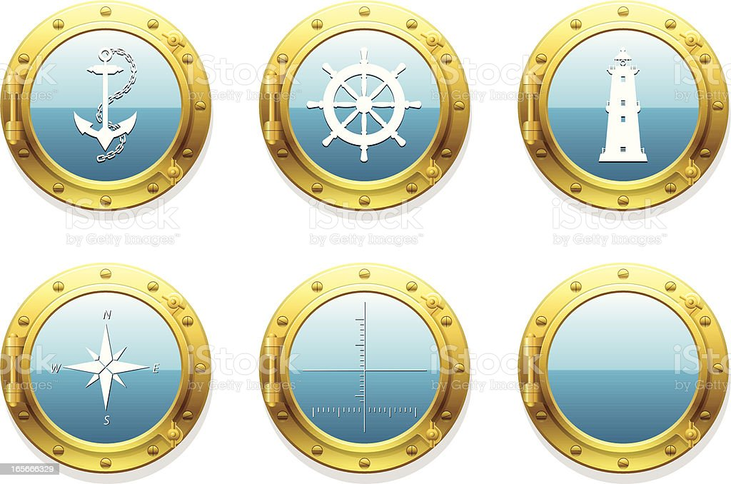 porthole set royalty-free stock vector art