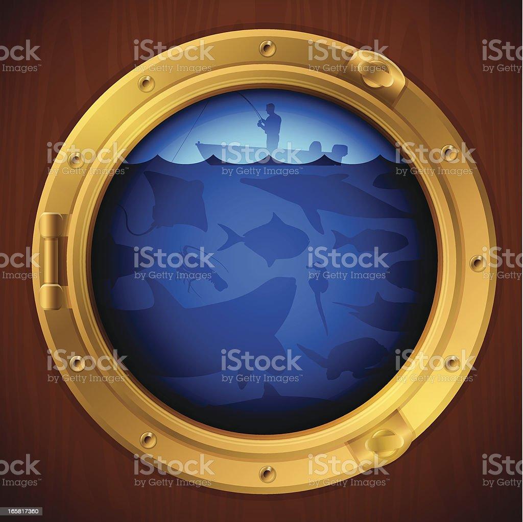 Porthole View vector art illustration