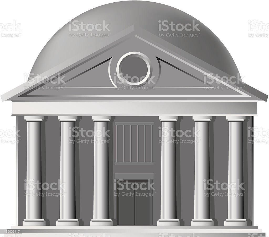 portico dome royalty-free stock vector art