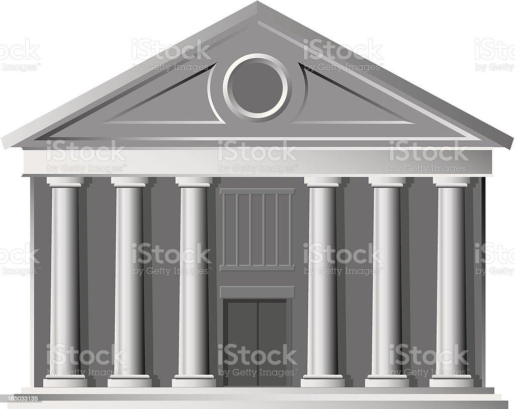 portico vector art illustration
