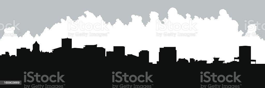 Portland Skyline Silhouette royalty-free stock vector art