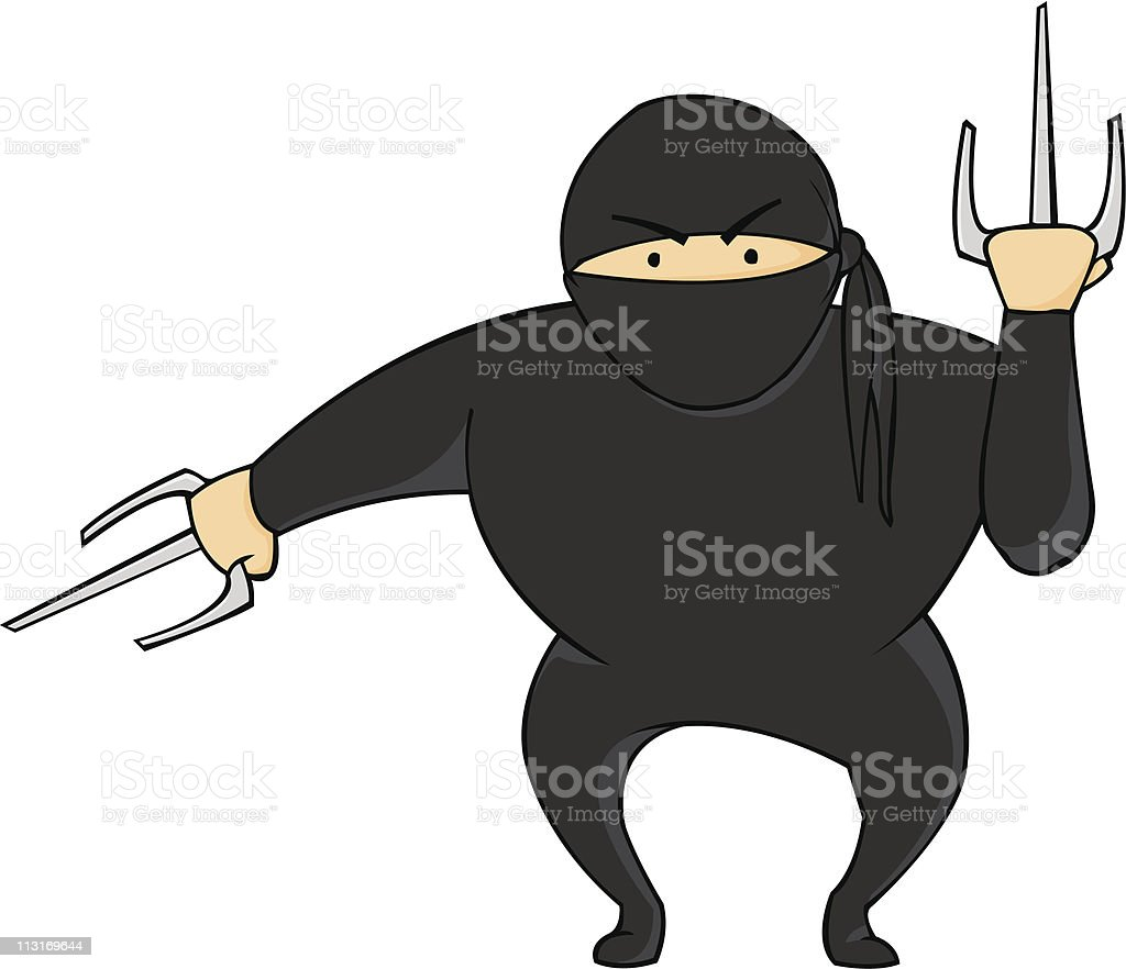 Portly Ninja royalty-free stock vector art