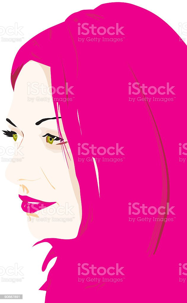 Portrait of a beautiful woman royalty-free stock vector art