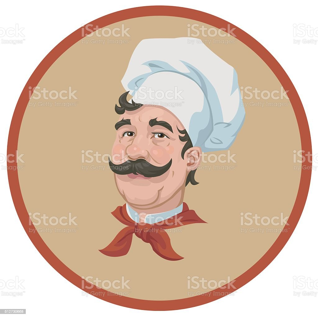 portrait of a cute chef royalty-free stock vector art