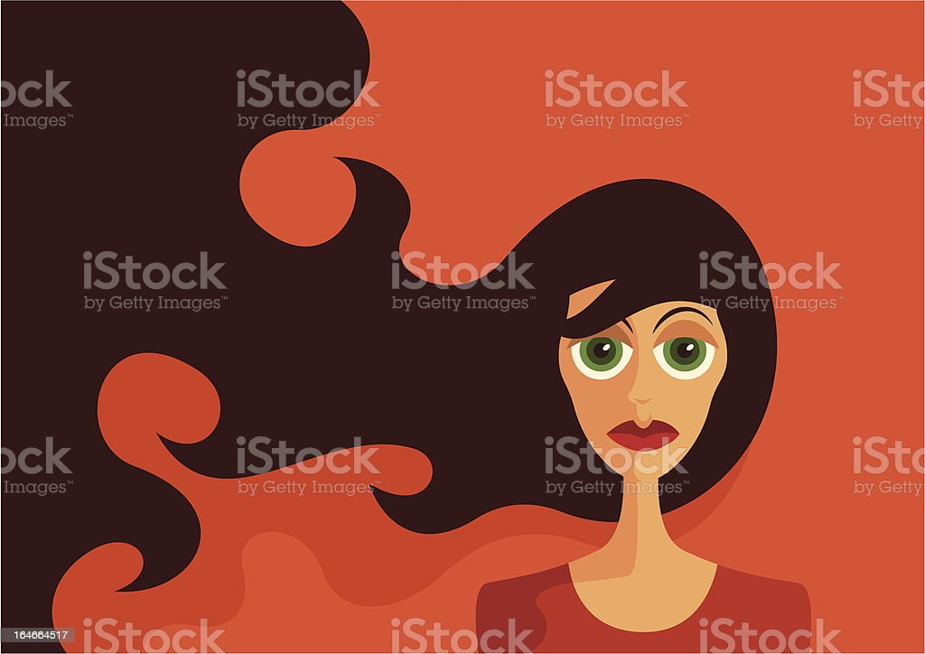 Portrait of a girl. royalty-free stock vector art