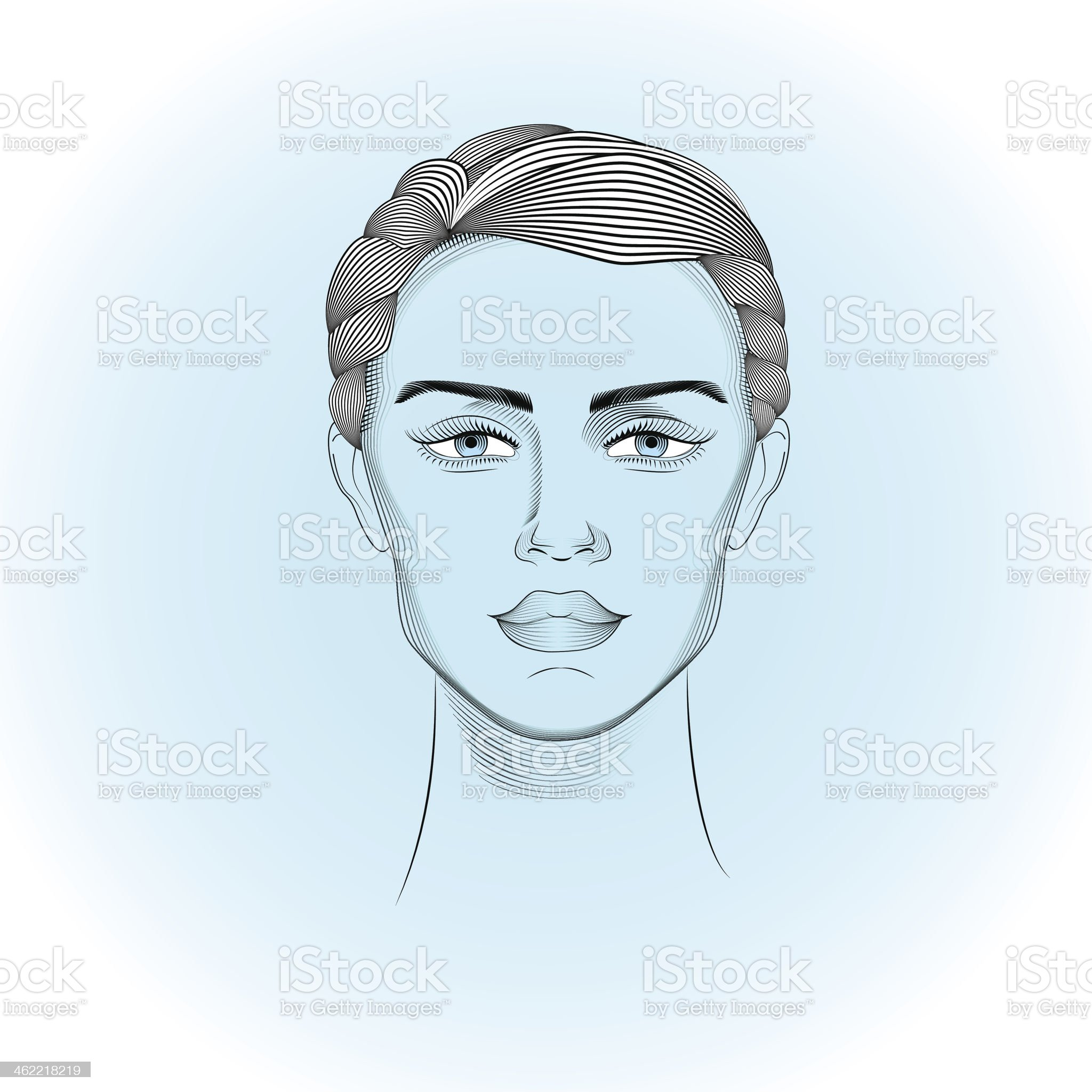 Portrait of androgyne royalty-free stock vector art