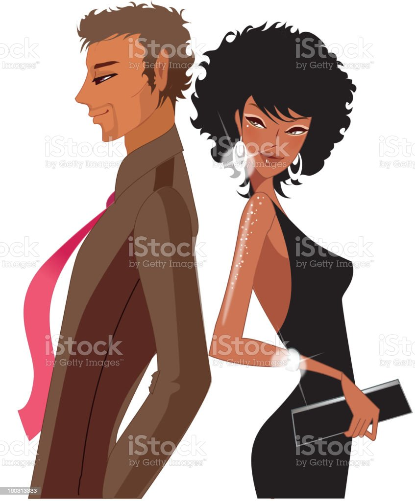 Portrait of Couple royalty-free stock vector art
