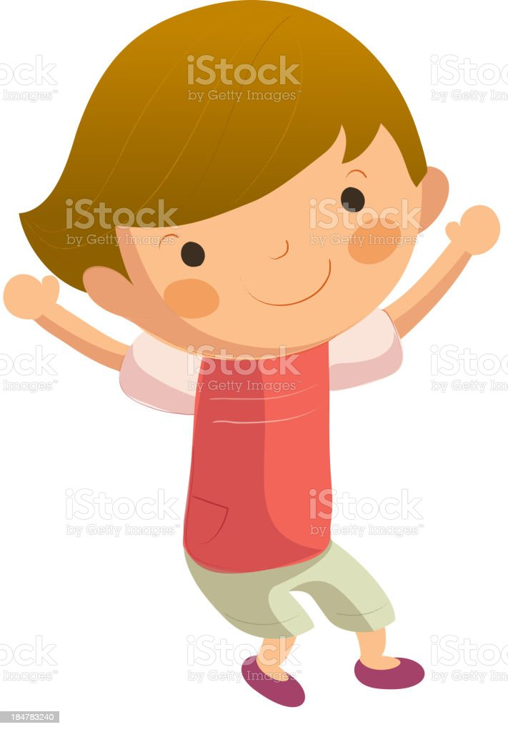 Portrait of happy boy royalty-free stock vector art