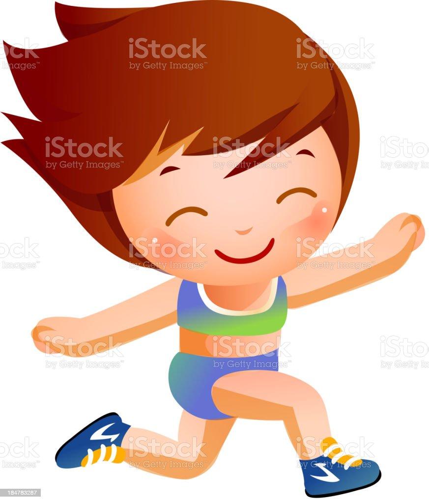 Portrait of happy girl royalty-free stock vector art
