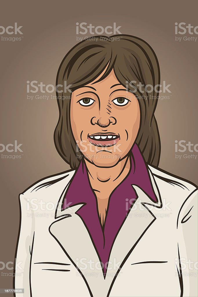 Portrait vector art illustration