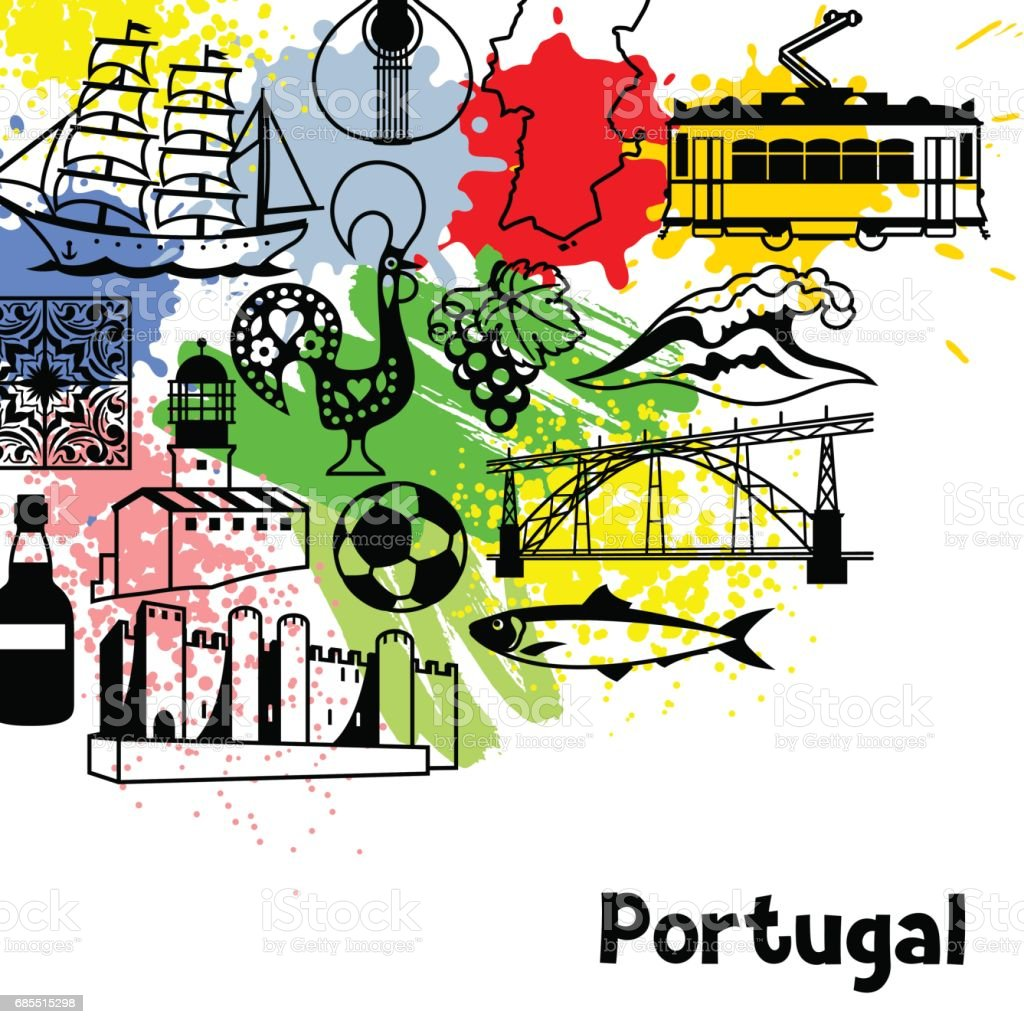 portugal background design portuguese national traditional symbols