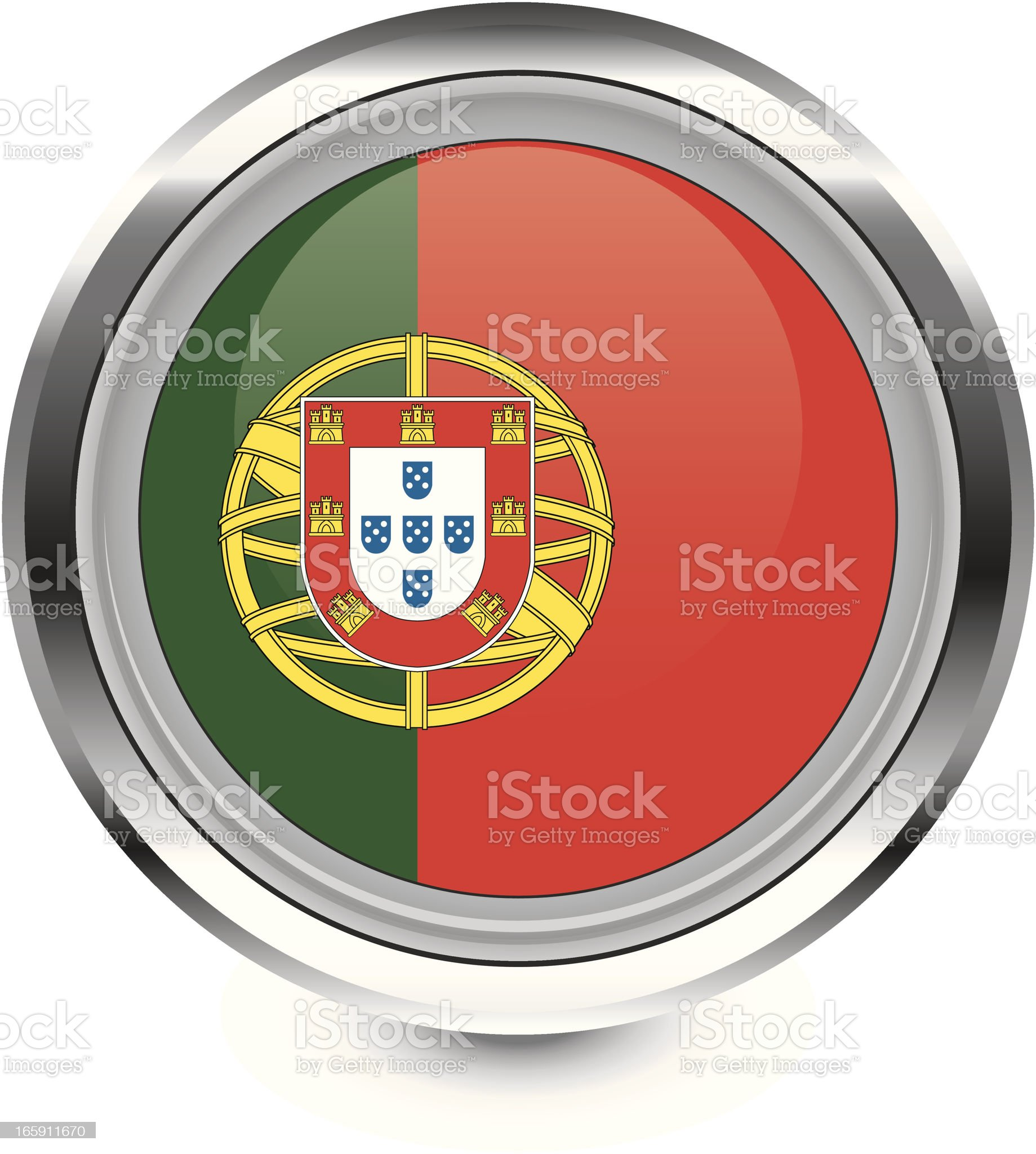 Portugal flag icon royalty-free stock vector art