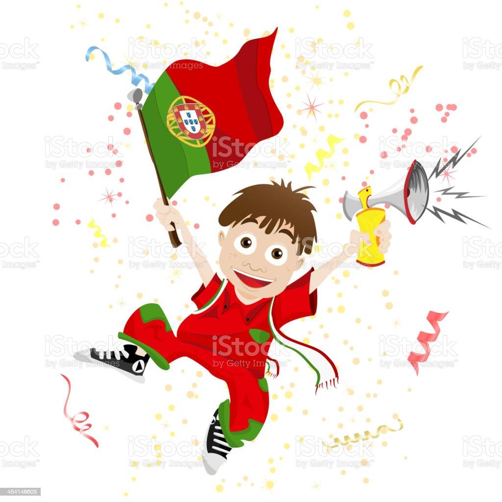 Portugal Soccer Fan Boy royalty-free stock vector art